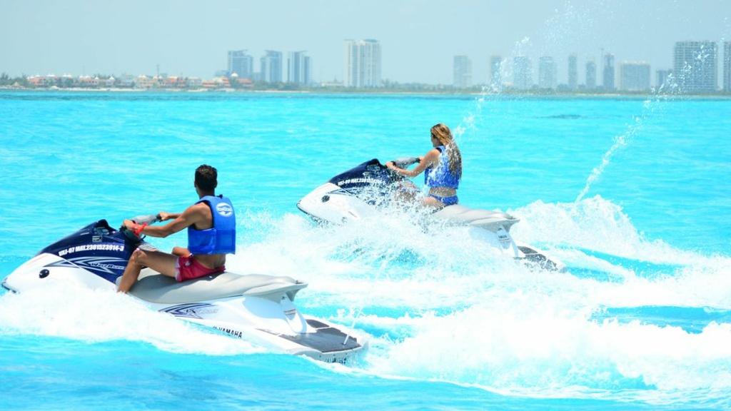 Jet Ski in the beautiful blue ocean