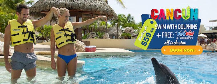 Nadar con delfines más wet n wild gratis todo incluido