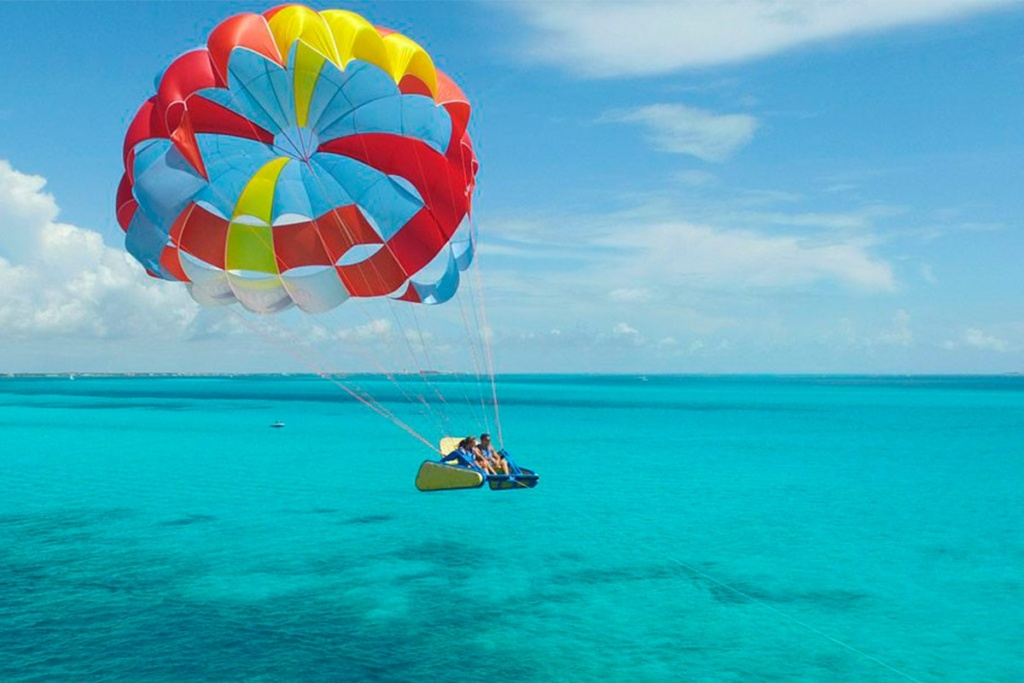 fly around to the caribbean sea
