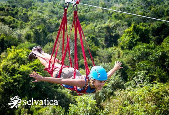 Selvatica Cancún parque para visitar en 2018 tirolesas, atvs, bungees, cenotes