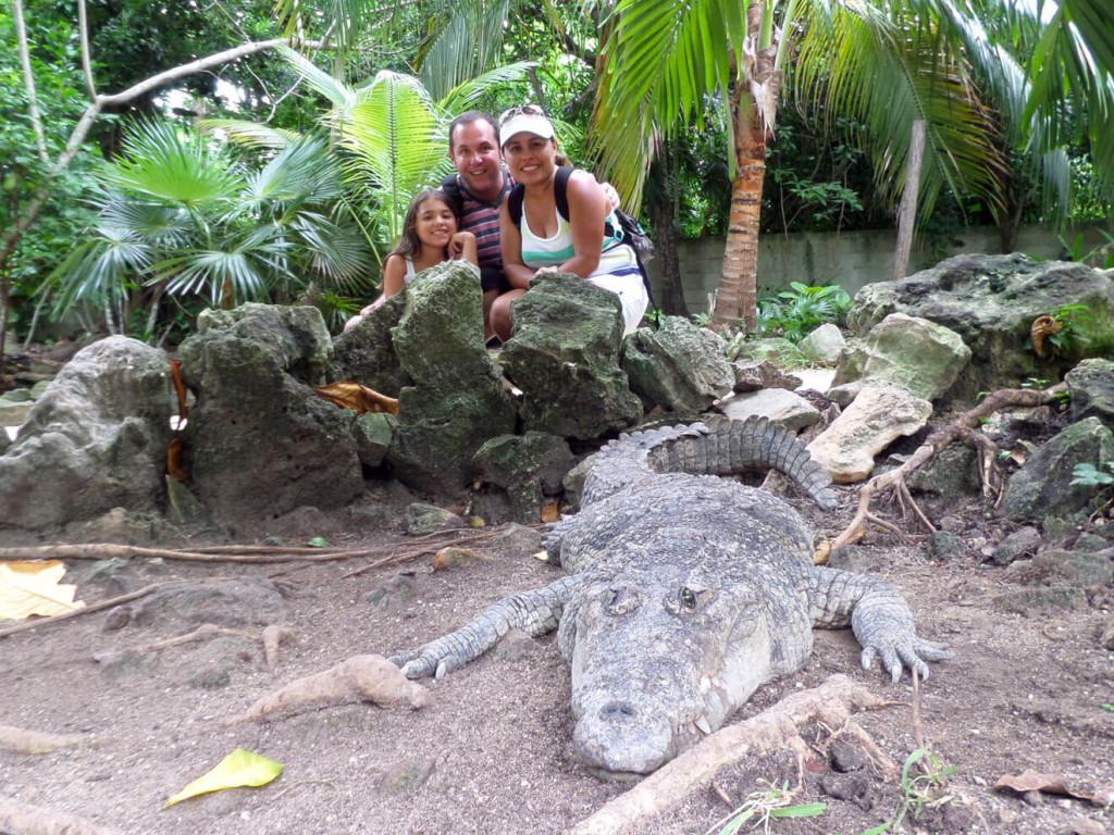 Walk among crocodiles Croco Cun Zoo
