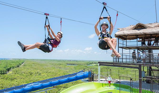 Zip line in Cancun
