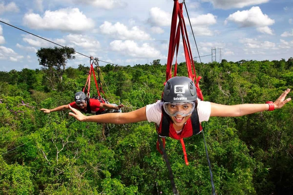 Zipthrough the air at amazing